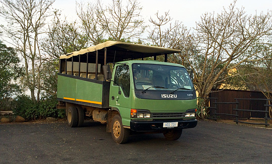 Nselweni Bush Camp's Game Park Vehicle - Hluhluwe iMfolozi Game Reserve Big 5 Nselweni Bush Camp Self Catering Accommodation Bookings KwaZulu-Natal South Africa