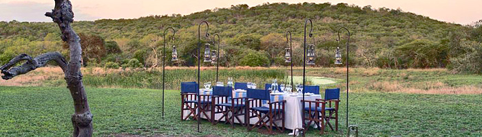 Safari Bush Dinner Phinda Zuka Lodge Phinda Private Game Reserve