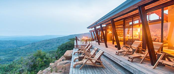 Hluhluwe Rhino Ridge Safari Lodge Deck View Hluhluwe iMfolozi Game Reserve KwaZulu-Natal