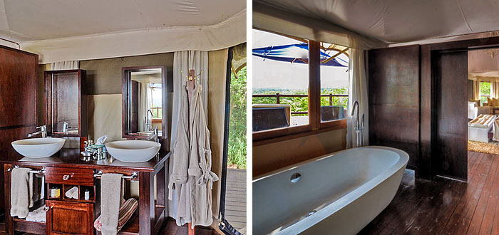 Luxury Honeymoon Bathroom Tent Thanda Tented Safari Camp Thanda Private Game Reserve KwaZulu-Natal Luxury Game Lodge