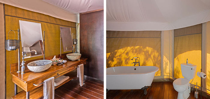 Bathroom Standard Safari Tents Thanda Tented Safari Camp Thanda Private Game Reserve KwaZulu-Natal Luxury Game Lodge