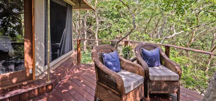 Deck Standard Safari Tents Thanda Tented Safari Camp Thanda Private Game Reserve KwaZulu-Natal Luxury Game Lodge