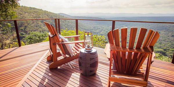 Leopard Mountain Game Lodge Main Deck view Manyoni Private Game Reserve Zululand Rhino Reserve Hluhluwe iMfolozi Reservations