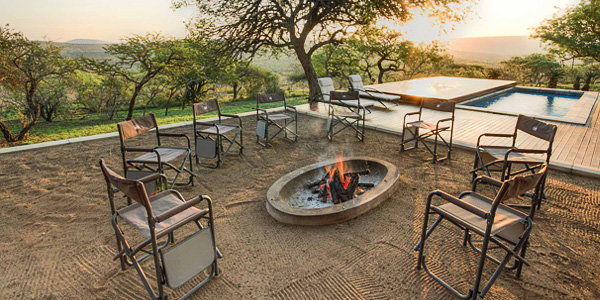 Mavela Game Lodge Boma firepit Manyoni Private Game Reserve Zululand Rhino Reserve Luxury Tented Camp