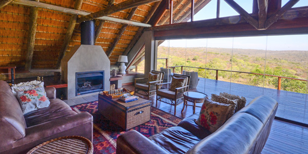 Mavela Game Lodge lounge view Manyoni Private Game Reserve Zululand Rhino Reserve Luxury Tented Camp