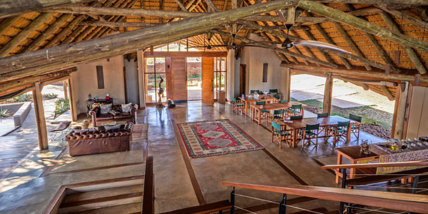 Mavela Game Lodge Main lodge Lounge dining Manyoni Private Game Reserve Zululand Rhino Reserve Luxury Tented Camp