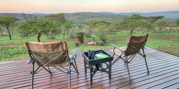 Privated Deck Mavela Game Lodge Manyoni Private Game Reserve Zululand Rhino Reserve Luxury Tented Camp