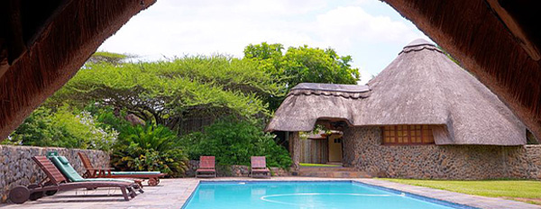 Rhino River Lodge Main Lodge Swimming Pool Manyoni Private Game Reserve Zululand Rhino Reserve KwaZulu-Natal South Africa