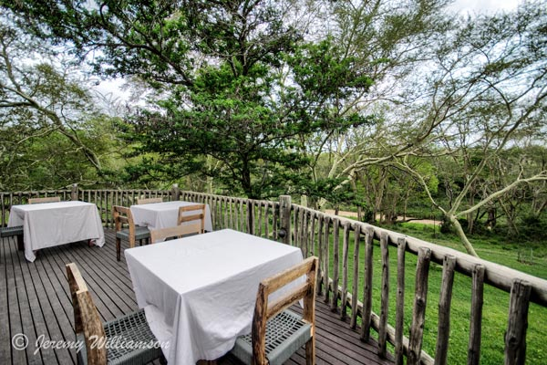Outside Dining area Manyoni Private Game Reserve Zululand Rhino Reserve KwaZulu-Natal South Africa