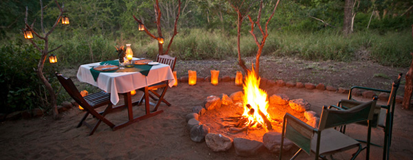 Rhino River Lodge Private Dinner Boma Firepit Manyoni Private Game Reserve Zululand Rhino Reserve KwaZulu-Natal South Africa