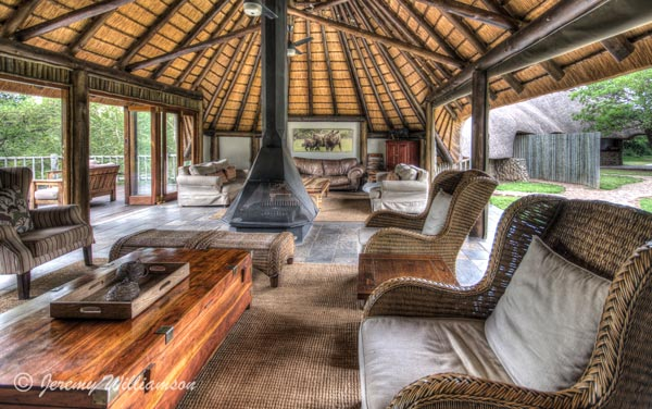 Rhino River Lodge Lounge Fire Place Manyoni Private Game Reserve Zululand Rhino Reserve KwaZulu-Natal South Africa