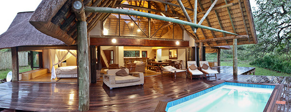 Manyoni Private Game Reserve Rhino River Lodge The Homestead lounge deck plunge pool Zululand Rhino Reserve KwaZulu-Natal South Africa
